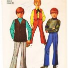 Vintage Pattern Simplicity 8558 Bell Bottom Pants and Vests 60s Size 8 Chest 26