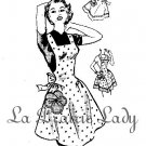 Vintage Full and Half Apron 50s PDF Pattern No 5 Available in M-L-XL