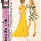 Vintage Pattern McCall's 3585 Misses' Dress 70s Size 14 B36