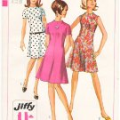 Vintage Pattern Simplicity 7161 Misses' Dress with Raised Neckline 60s Size 12 B32