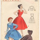 Vintage Pattern Butterick 7030 Teen Age Jumper or Dress and Blouse 50s Size 16 B34