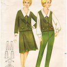 Vintage Pattern Butterick 3223 Blouse, Jacket, Vest, Skirt and Pants 60s Size 14 B34