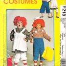 Costume Pattern McCall's P218 Adult Raggedy Ann and Andy Size M B36-38 UNCUT