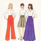 Vintage Pattern Style 4376 Skirt and Pants 70s Size 14 Waist 28 UNCUT