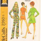 Vintage Pattern McCall's 2260 Mini Dress or Tunic, Shorts and Pants 70s Jr. Size 9 B32