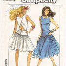 Pattern Simplicity 8619 Dress in Two Lengths 80s Size 6-10 B30.5 to 32.5