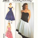 Vintage Pattern Simplicity 9506 Misses' Dress in Two Lenghts 80s Size 12-16 B34-38 UNCUT