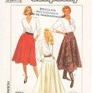 Vintage Pattern Simplicity 9317 Misses' Skirt 80s Size 8-12 Waist 24-26.5 UNCUT