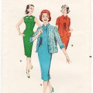 Vintage Pattern Butterick 8637 Day Dress and Jacket 50s Size 12 B32