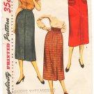 Vintage Pattern Simplicity 4491 Misses' Skirt 50s Waist 26