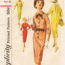 Vintage Pattern Simplicity 2642 Day Dress 50s Size 12 B32