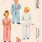 Vintage Pattern McCall 4949 Child's Girl and Boy One Piece Pajamas Size 3