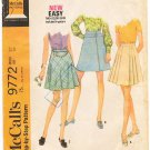 Vintage Pattern McCall's 9772 Skirts Set Waist 27 Hip 38