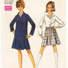 Vintage Pattern Simplicity 8312 School Blazer, Blouse and Skirt 60s Size 13/14 B33.5 UNCUT