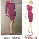Vogue 2827 Designer Original Genny Misses' Jacket and Dress 90s Size 6-8-10 UNCUT with LABEL