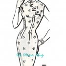 Repro Vintage Pattern Chinese Sheath Dress later 1950s No 7 on Printable PDF Bust 32-33