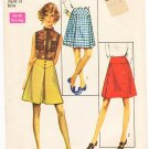Vintage Pattern Simplicity 8596 Set of Skirts 60s Size 18 Waist 31