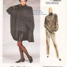 Vintage Vogue 1973 Paris Original Givenchy Cape, Top, Skirt and Pants 80s Size 6-10