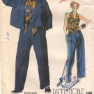Vintage Vogue 1559 Individualist Danny Noble Misses' Jacket, Halter Top and Pants 80s Size 10 B32.5