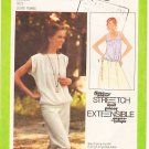Vintage Pattern Simplicity 8890 Misses' Pullover tops 70s Size 8-12 B31.5 - 34