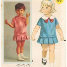 Vintage Pattern Butterick 3452 Girls' Dress 60s Size Half