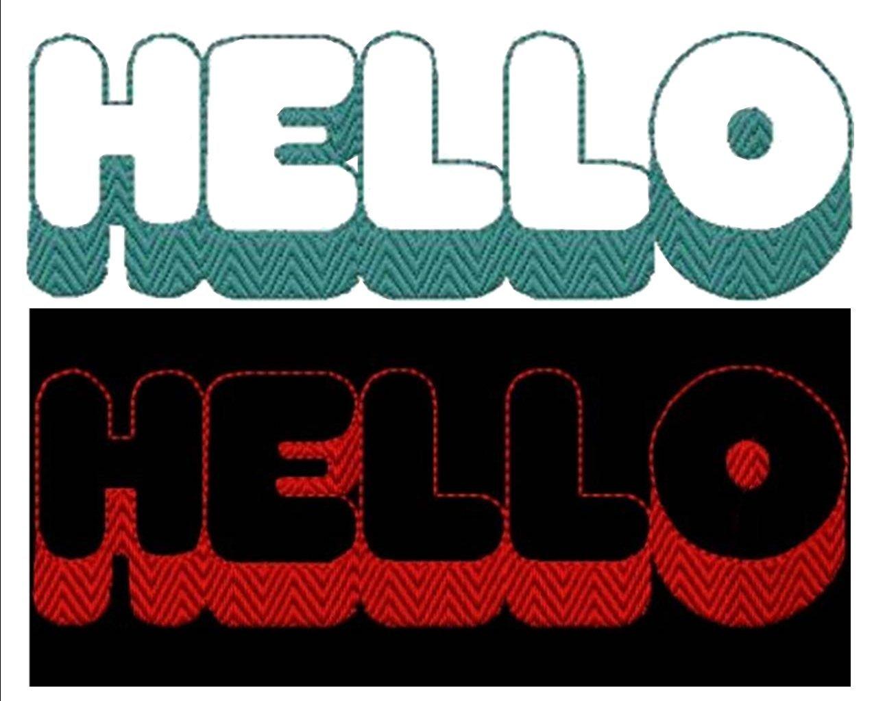 Hello Alphabet Machine Embroidery Design