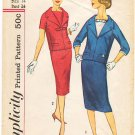 Vintage Pattern Simplicity 3128 Middy Blouse with Detachable Sleeve Trim and Skirt 50s Size 14 B34