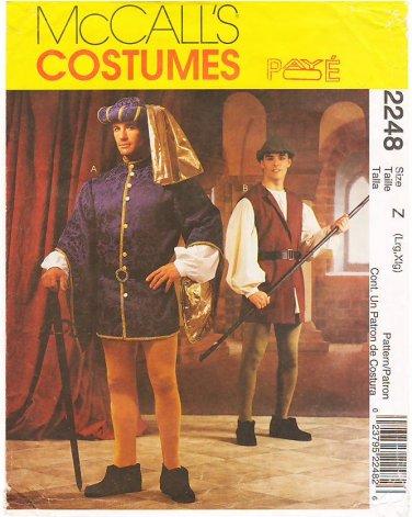 Pattern McCall's 2248 Men Renaissance Costumes Size L - XL Chest 42-48 UNCUT