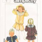 Vintage Patterns Simplicity 7200 Toddlers' Dress 80s Size 3 UNCUT