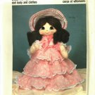 Pattern Dollcraft 201 Heritage Family Scarlet 80s UNCUT