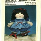 Pattern Dollcraft 305 Cuddle Kids Giggles 80s UNCUT