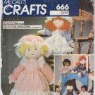 Vintage Pattern McCall's 8349 Nostalgic Dolls 80s UNCUT