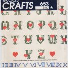Vintage Pattern McCall's 8027 Cross Stitch Motifs and Alphabets Transfer 80s