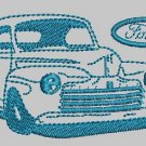 Vintage Car Ford 46 Machine Embroidery Design 3 Sizes