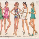 Vintage Pattern Simplicity 5696 Misses' Mini Dress or Bathing Suit 70s Size 10 B32-1/2