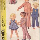 Vintage Pattern McCall's 2529 Girls' Jacket, Top, Pants, Bloomers, Pinafore 70s Size 5