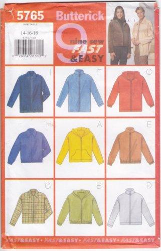 Pattern Butterick 5765 Women Jacket Variations Size 14-16 B36-40 UNCUT