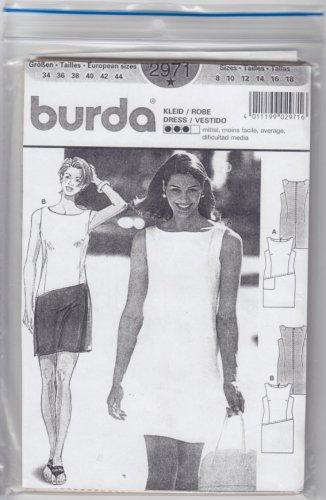 Pattern Burda 2971 Summer Dress 90s Size 8-18 UNCUT