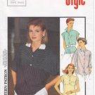 Vintage Pattern Style 4556 Top - Blouse 80s Size 8-12 B31-1/2 - 34 UNCUT