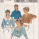 Vintage Pattern Style 4031 Misses' Set of Pullover Top 80s Size 12-14 B34-36