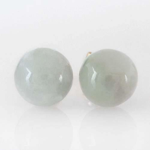 Classic Genuine Jade post Earrings with 14k Gold-Style 1