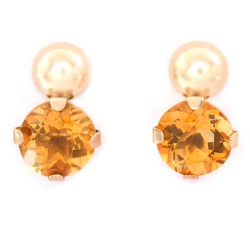Sun-Sational Citrine Post Earrings