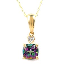 Diamond and Topaz Necklace