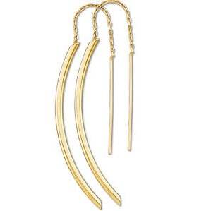 14 K Gold - Designer Earring Threaders (Style-1)