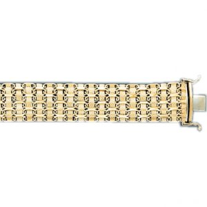 Woven Style Lady's Bracelet in Italian Gold (Style-2)