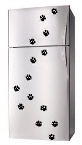 Set 16 PAW PRINT DoG CAt Appliance Fridge Decor MAGNETS