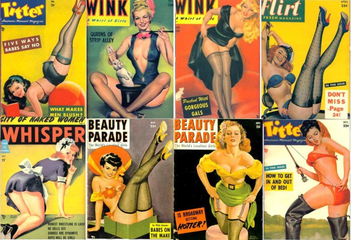 8 Vintage Retro Magazine PIN UP Girls Fridge Magnets