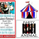 Custom CARNIVAL CirCuS Party Ticket INVITATIONS Uprint