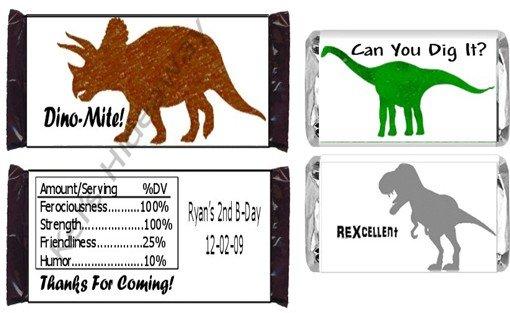 Custom T-Rex DINOsaur Candy BAR or NUGGET Wrappers UPRINT
