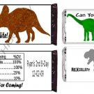 Custom T-Rex DINOsaur Candy BAR or NUGGET Wrappers UPRINT
